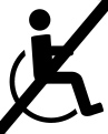 nicht Rollstuhl geeignet