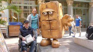 Fotoshooting mit Bernd dem Brot